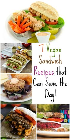 7 of my favorite vegan sandwich recipes to keep you fed all summer long plus they are great to bring to picnics and BBQs too!