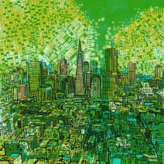 Title  San Francisco Cityscape 3  Artist  MB Art factory  Medium  Painting - Mixed Media