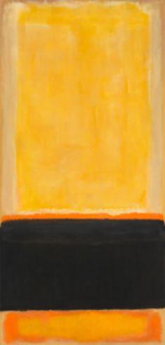 Mark Rothko, No. 4 (Yellow, Black, Orange on Yellow/ Untitled), 1953.