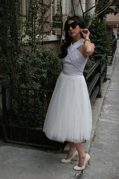 Tulle & Crop http://mariaonpoint.com/tulle-crop/