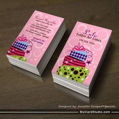 Cute and whimsical cupcake bakery business cards pinterest cake art bakery business cards reheart Gallery