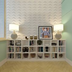 Chevron Wall Tiles from MIO - these 3D wall tiles make an amazing accent wall in a modern nursery design (or any room in the house!)