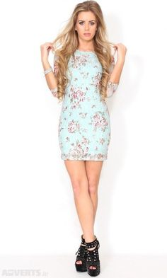 Dylin blue floral lace dress €30 from Adverts.ie #Dress #Floral