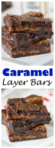 Caramel Layer Bars - rich and chocolate brownie filled with chocolate chips and gooey caramel. You will not be able to stay away from them!