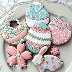 Милые пасхальные печенья
