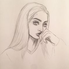 sketches, girl, lovely