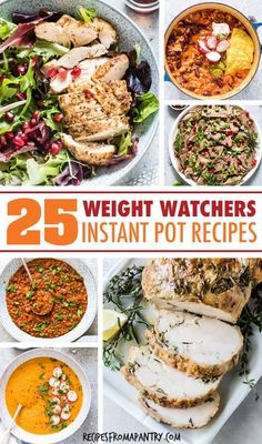 This collection of 25 Weight Watchers Instant Pot Recipes makes it easy to stick with your healthy eating plan. Each dish has just 7 SmartPoints or less! Supper Recipes, Ww Recipes, Lunch Recipes, Appetizer Recipes, Healthy Recipes, Family Recipes, Cocktails, Drinks, Best Instant Pot Recipe
