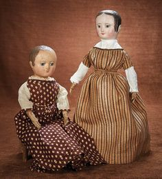 American Cloth Dolls by Izannah Walker with Curls. http://Theriaults.com