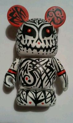 I did this Vinylmation Tribal Tattoo art toy for a private commission.