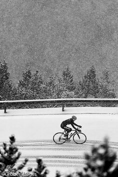 #snow #bicycling