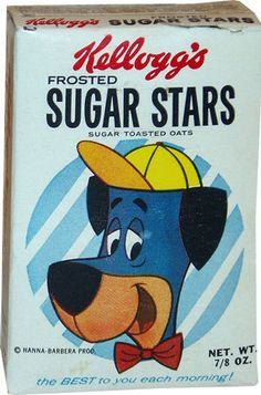 Breakfast cereal image for Sugar Stars cereal called Frosted Sugar Stars Cereal Box - Small. Retro Recipes, Vintage Recipes, Vintage Advertisements, Vintage Ads, Vintage Food, Sweet Memories, Childhood Memories, Cereal Packaging, Types Of Cereal