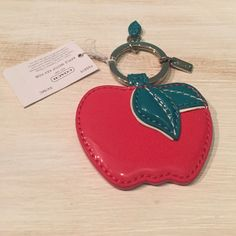 NWT Coach Apple Keychain Patent leather.  Coach Apple keychain. Coach Accessories Key & Card Holders