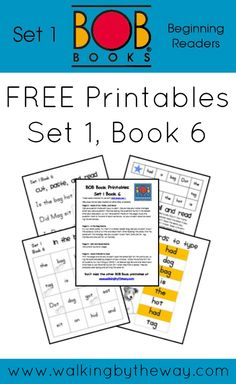FREE BOB Book Printables for Set 1 Book 6 from Walking by the Way