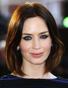 Emily Blunt. Seriously considering this hair color.  Little Brown, Little Red...