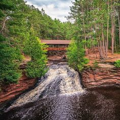 A gorgeous scene at Amnicon Falls State Park in northern Wisconsin. Thanks to (at)troy.hess for sharing this lovely #midwestmoment! Hashtag your  Instagram photos #midwestmoment for a chance at a feature. https://instagram.com/p/6Z-td9mzbp/