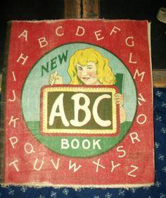 Salfield Early 1900 ABC  Linen Children Storybook