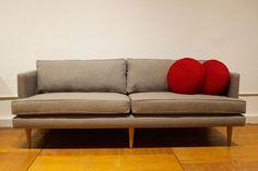 Preston #Sofa in Vibe Smokey ・・・ #Joybird #JoybirdFurniture #Houston #HoustonShowroom #JoybirdChair #Furniture #CustomFurniture #MidCentury #MidCenturyModern #MidMod #leather #leatherfurniture