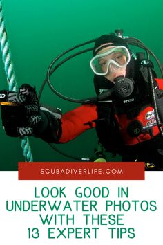 Use our 13 best tips on how to look good in underwater photos to get a shot you'll be proud to share. The best shots are the ones where you feel happy, you're diving safely within your limits, and you're having a great time underwater. #underwaterphotos #underwaterphotoshoot #underwaterphotosocean #underwaterphotoshootideas #underwaterphotostips #howtotakepicturesunderwater