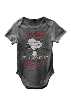 Snoopy I Swear It Was the Dog Bodysuit (Baby Boys) by FREEZE on @HauteLook