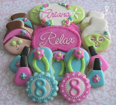 Spa Themed Birthday Set   Cookie Connection