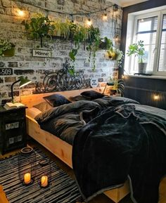 home ideas bedroom \ home ideas . home ideas on a budget . home ideas dream . home ideas diy . home ideas living room . home ideas decoration . home ideas kitchen . home ideas bedroom Dream Rooms, Dream Bedroom, Gypsy Bedroom, Bohemian Bedroom Decor, Bohemian House, Bedroom Rustic, Bohemian Style Bedrooms, Small Room Bedroom, Brick Wall Bedroom
