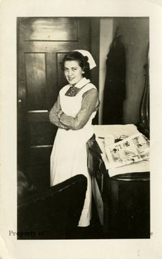 1936 photograph of Josephine Elizabeth Rouner in nurses' uniform at American School of Osteopathy Hospital.  (Museum of Osteopathic Medicine)