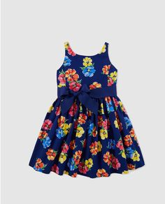 Vestido de niña Polo Ralph Lauren con estampado de flores