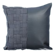 2543a729 Decorative Throw Pillow Cover Accent Pillow Couch Sofa Leather Pillow Case  16x16 Grey Metallic Faux Leather Pillow Home Living - Grey N Half