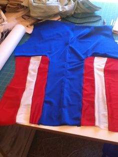 I got the back done!! Captain America Cosplay, Flag, Craft, Costumes, Science, Flags