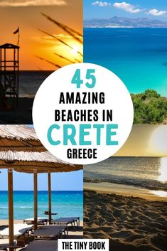What beaches you should visit in Crete, Greece Top Travel Destinations, Europe Travel Guide, Travel Guides, Places To Travel, European Travel Tips, European Vacation, Road Trip Europe, Crete Greece, South America Travel