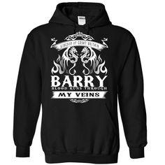 BARRY blood runs though my veins T Shirts, Hoodies. Check price ==► https://www.sunfrog.com/Names/Barry-Black-77058787-Hoodie.html?41382