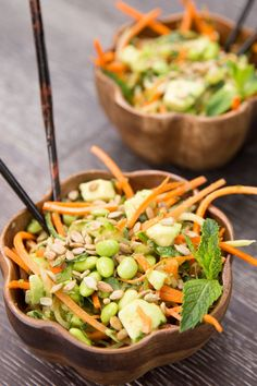 Cucumber & Carrot Noodle Thai Salad