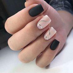 Discover new and inspirational nail art for your short nail designs. Black Nail Art, Black Nails, Pretty Nail Art, Beautiful Nail Art, Short Nail Designs, Nail Art Designs, Hair And Nails, My Nails, Nagellack Design
