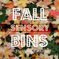 A great collection of lovely sensory bins for the autumn - 10 of them in fact!