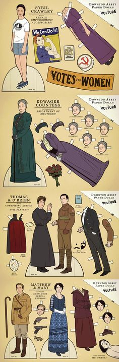 Downton Abbey  Paper Dolls... this would be a fun girly garden party :)