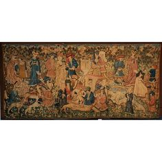 The Devonshire Hunting Tapestries; Deer Hunt (Tapestry) | V Search the Collections 1450s