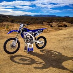 2015 Yamaha YZ450F. Pretty sure my cousin Stephen rocks something like this...