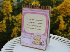 decorated spiral bound notebook Winne the Pooh by BellaBoutique23