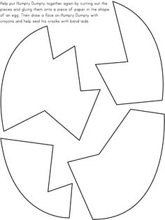 Coloring page octagon color this picture of an octagon for Humpty dumpty puzzle template
