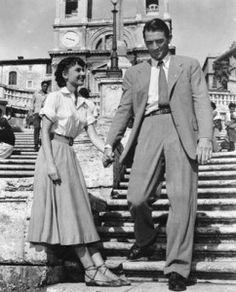 Vacaciones en Roma. Gregory Peck, Audrey Hepburn