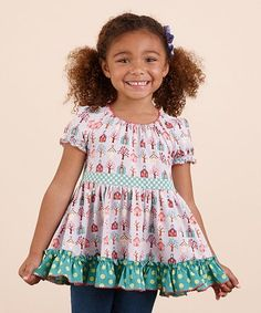 Another great find on #zulily! Purple Schoolhouse As You Wish Tunic - Toddler & Girls #zulilyfinds