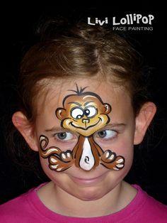 Monkey facepaint
