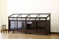 アンティーク 珍品!希少!ナラ材の重厚な大型展示ガラスケース(ショーケース)