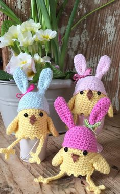 LoveCrochet | With springtime and Easter just around the corner how about hooking up some little egg cosies?  This pattern works for either the healthy dippy egg sort of eggs, or the not quite so heal