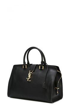 Black Cabas Bag Large - Saint Laurent - Saint Laurent - ANITA HASS | DESIGNER FASHION