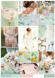 Mint and pale pink wedding!!