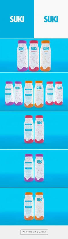 Suki juices by Rodrigo T. Lopes. Source: Daily Package Design Inspiration. Pin curated by #SFields99 #packaging #design
