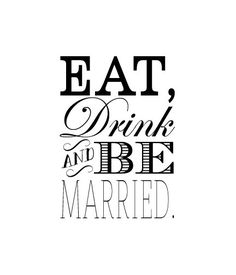 Eat Drink and be Married Rubber Stamp Wedding rubber by terbearco, $21.99