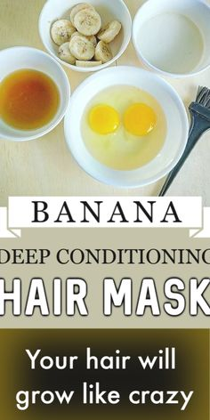 Your Hair Will GROW Like CRAZY With THIS Banana Deep Conditioning Mask !! #haircare #hairgrowth #longhair #hairmask #silkyhair #diyhair #banana #beauty #diybeauty #beautytips Hair Mask For Damaged Hair, Hair Mask For Growth, Natural Hair Mask, Diy Hair Mask, Natural Hair Styles, Hair Masks, Natural Beauty, Banana Hair Mask, Banana For Hair