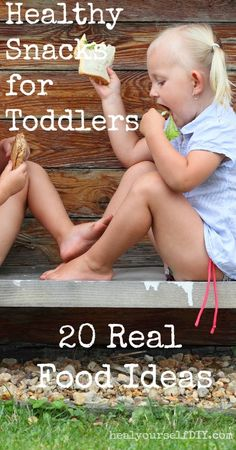 Healthy Snacks for Toddlers: 20 Real Food Ideas   www.healyourselfDIY.com